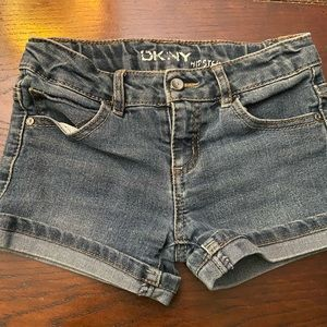 DKNY denim shorts hipster stretch